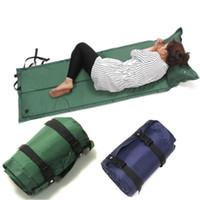 camping travesseiro automático inflável venda por atacado-Almofada de Dormir ao ar livre À Prova D 'Água Dormir Almofada de Ar Mat Colchão de Acampamento Esteira Inflável Automático com Travesseiro 180 * 60 * 2.5 cm ZZA767