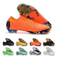 ingrosso girocollo giallo-CR7 Mercurial Superfly Scarpe da calcio per uomo Tacchetti Top scarpe da calcio in pelle Low Ronaldo Mercurial Scarpe Neymar Superfly Taglia 39-46