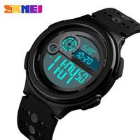 24 stunden elektronisch großhandel-SKMEI 1374 Männer Frauen Digitale Sportuhr Countdown Wasserdichte Uhren Männer LED Electronic Business Clock 12/24 Hour Relogio