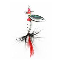 colheres rotativas venda por atacado-1 Pcs Spinner Colher Isca De Metal Fishin Lure Lantejoulas Crankbait Colher iscas para Bass Trout Poleiro pike Girando Pesca 4.2g