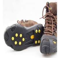 Wholesale claws shoes resale online - Fashion Non Slip Shoe Spikes Safe Claws Snow Ice Climbing Shoe Spikes Grips Winter Outdoor Skiing Gripper WY334Q