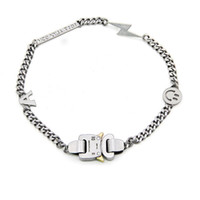 armband zubehör für frauen großhandel-19SS ALYX Halskette Armband Metallkette Männer Frauen Hip Hop Außen ALYX Straße Zubehör Lächeln Halskette