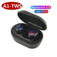 3d musik großhandel-A1-TWS Bluetooth 5.0 Drahtlose Kopfhörer Sport Musik Headset 3D Stereo Gaming Kopfhörer Sport Ohrhörer Headset Für Alle Smartphones DHL