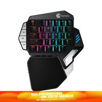 Wholesale gaming console for pc resale online - GameSir Z1 Single Hand Gaming RGB Mechanical Keyboard BattleDock Consoles FPS Games For Mobile Legends PC One Handed Cherry
