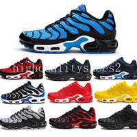 blaue männer schuhe stil großhandel-Nike TN air max 2018 airmax Vapormax TN Plus für Männer, leichte atmungsaktive athletische Outdoor-Turnschuhe Eur 40-44
