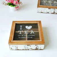 ingrosso scatola di legno-vendita all'ingrosso ZAKAKA Scatola di immagazzinaggio in legno Organizer da tavolo retrò per portaoggetti di cancelleria di gioielli antichi Casa