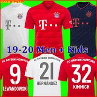 camisa muller al por mayor-Thailand Bayern Munich JAMES RODRIGUEZ Jersey de fútbol soccer jersey football shirt 2019 2020 LEWANDOWSKI MULLER KIMMICH 19 20 HUMMELS Camiseta chandal de fútbol Champions League
