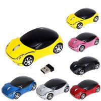 Wholesale usb mouse sem fio resale online - Wireless Mouse Inalambrico Usb Sem Fio GHz DPI Car Shape Wireless Optical Mouse USB Scroll Mice for Tablet Laptop