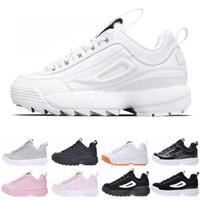 мужчины размер 16 кроссовки оптовых-2019 новый Disruptors Тройной белый черный серый розовый Женщины мужчины специальный раздел спортивные кроссовки увеличилась бега кроссовки размер 36-44