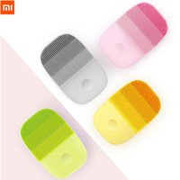 крем для мытья лица оптовых-Xiaomi inFace Electric Deep Facial Cleaning Massage Brush Sonic Face Washing IPX7 Waterproof Silicone Face Cleanser Skin Care