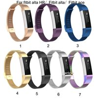 Wholesale monitor factory for sale – best Metal Milanese Replacement Strap Wrist Band Belt for Fitbit Alta Bracelet HR for Fitbit ace Monitor Smart Watch Accessory Factory Promotion