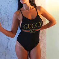 bikini kaplı siyah kadınlar toptan satış-Kadın Giyim Tek parça Yüzme Suit Yeni Yaz Altın siyah Mayo ile Seksi Moda Büyük Kod Bikini Lady Tasarımcı Mayo