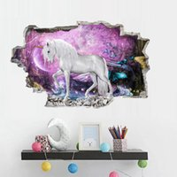 stickers muraux de jardin d'enfants achat en gros de-enfants dessin animé Licorne stickers muraux enfants mode Chambre Décorations PVC autocollant décor à la maison stickers muraux Kindergarten Nursery Stickers