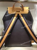dağ çantası kadınları toptan satış-Toptan Mountain sırt çantası Trio Bosphore 44658 oksitleyici deri çift Omuz zincir sırt çantası seyahat çantası erkekler kadınlar okul çantası Ücretsiz 45