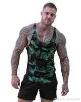 Wholesale sports army camouflage clothing resale online - Vest Muscle Quick Drying Breathable Tops Summer Running Camouflage H Vest Male Clothes Hot Mens Sports