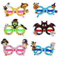 Wholesale big glasses props resale online - Halloween Glasses Big Exaggerated Funny Glass Halloween Party Props Decorations Creative Personality Funny Glasses Parody Toys GGA2685