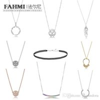 ingrosso semi di cuore-FAHMI 100% Argento 925 CIRCLE OF SEEDS Shards of sparkling INTERLOCKED CROWN HEARTS FLOATING GRAINS NECKLACE
