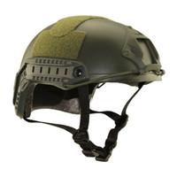 ingrosso casco di montagna giallo-Tactical esterna Casco protettivo Paintball caschi protettivi uomini dell'esercito regolabile CS Caschi