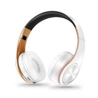 ingrosso microfono auricolari-Il più nuovo trasporto libero nuovi colori dell'oro Cuffie Bluetooth Cuffie stereo senza fili auricolari con Mic / TF Card (vendita al dettaglio)