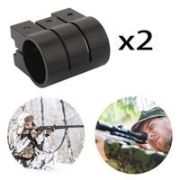 gewehrbereich ringe weber großhandel-Magorui 2Pcs 1 Zoll / 25.4mm Ring-Laser-Bereich-Anblick-Weber Picatinny 20mm Schienen-Gewehr-Einfassung