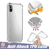 Wholesale note shockproof resale online - Soft TPU Clear Case for Galaxy S10 iPhone Plus XR XS MAX Anti knock Case Huawei P20 Lite Tramsparent Shockproof TPU Airbag Bumper Case