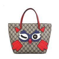 Wholesale cartoons ladies handbag shopping online - Baby owl Handbags Girl Owl Printed Shoulder Bags Cartoon Cute Casual Beach Bag Ladies Shopping Bag GGA1837