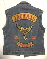 patchs de motards brodés achat en gros de-JACKALS PHOENIX Club de moto Patch MC Hot brodé Full Back Large Pattern pour Rocker Biker Vest correctifs pour vêtements Livraison gratuite