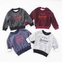 ingrosso prodotti boutique-I bambini cadono costumi boutique felpe girocollo maglietta per ragazzi felpe bambino bambino prodotti di natale abbigliamento per bambini Vendita