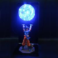 ejderha topu ışığı toptan satış-Dragon Ball Z Lamba Goku Gücü Bombalar Yaratıcı Masa Lambası Dekoratif Aydınlatma Çocuklar Çocuklar için Bebek DBZ LED Gece Lambası