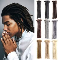 Wholesale hair styles for braids for sale - Handmade Dreadlocks Black Reggae Hair Extensions inch Fashion Hip Hop Style Strands Pack Synthetic Braiding Hair For Men