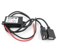 12v 5v dc regulator venda por atacado-Carregador de carro Conversor Macho CPT Car Power Step Regulador Não-isolado Buck Módulo Conversor De Energia DC 12 V Para 5 V 3A 15 W USB KKA5958