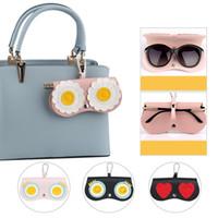 Wholesale clip sunglasses resale online - Eyeglasses Bag color Cute Weird Goggles Clip Key Hanging Handbag Ornament Accessories Portable Sunglasses Cases