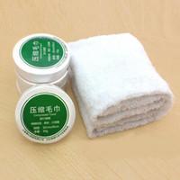 toalla comprimida para niños al por mayor-1 UNID Mini Toalla Comprimida de Algodón para el Cuidado de la Cara Portátil Para Niños Adultos Verano de Viaje al Aire Libre Deportes Mágicos Toalla