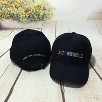 желающий колпачок оптовых-Трэвис Скотт Astroworld Hat Мужская вышивка с буквами Желаю, чтобы ты был здесь