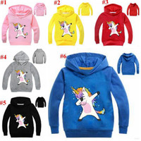 Wholesale cotton baby clothes wholesale online - Baby Clothes Unicorn Hoodies Boys Casual Cartoon Coat Jackets Long Sleeve Outwear Sweatshirts Jumper Pullove Tops MMA1589