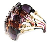 die blauen eyewear frames der frauen großhandel-Hochwertige Mens Womens Gradient Pilot Sonnenbrille Brillen Designer Vassl Sonnenbrille Gold Frame Blue Glass Linsen mit braunen Fällen