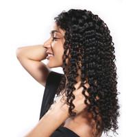 peluca brasileña de encaje envío gratis al por mayor-Barato 8A Brasileño Profundo Onda Natural Mirando el cabello Cordón frontal del cabello humano pelucas Para Mujer Negro 10-30 Pulgadas Precio al por mayor Envío Gratis