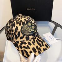 gorras de béisbol de moda al por mayor-Sombreros de diseñador Gorras de béisbol Gorra de béisbol de moda para hombres Gorras de mujer Belleza ajustable bordado Diseño de estampado de leopardo Sombrero de alta calidad