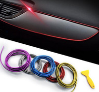 tiras cromadas al por mayor-5 M Accesorios de sellado de automóvil Estilo Interior Exterior Decoración Tira de la puerta Moldura de tablero de instrumentos Borde Borde Universal Auto Chrome