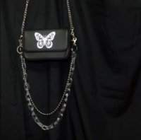 Wholesale butterfly cross body bags for sale - Group buy Fashion women s bag chain one shoulder small bag cover lady cute girl vintage messenger cross body butterfly black gh25698