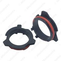 adaptadores para porta-lâmpadas h7 venda por atacado-2x LED Adaptador de Retenção de Faróis para BMW Série 5 E39-2 Benz SLK Car H7 CONDUZIU a Lâmpada Titular Clipe de Soquete # 5936