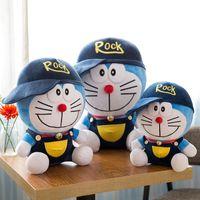 Wholesale anime doraemon online - Doraemon Plush toys children sleeping soft back cushion cute stuffed animals filling Doraemon baby companion doll Christmas gifts kids toys