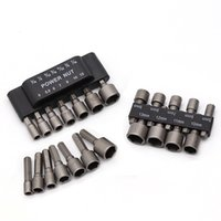 Wholesale hand tools socket set resale online - 9pcs mm Wrench Socket Adapter Set Inch Hex Shank Screw Nut Driver Hand Tools Metric Power Tool Drill Bit Adaptor