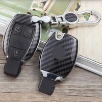 mercedes key shell case al por mayor-caso llave del coche llavero cubierta de Shell bolso protector del anillo dominante para Mercedes Benz Clase C titular W205 GLC GLA AMG Clase E W213 E260 E200L