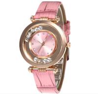 женские кожаные наручные часы оптовых-2019 new quicksand water drill leather watchband ladies ultra-thin watch wholesale