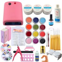 ingrosso set di gel per costruzioni uv-Pro 36W Nail Lampada Asciugatrice Kit gel UV Set Nail Gel Polish Tips Builder False Tips Cutter Manicure Art Tool Kit