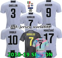 Wholesale RONALDO DYBALA MATUIDI POGBA HIGUAIN CR7 Jersey home Soccer CUADRADO MARCHISIO MANDZUKIC Juventus RD WOMEN FOOTBALL Shirt