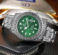 зеленые предприятия оптовых-2019 дизайнер топ роскошные часы мужской бизнес спорт водонепроницаемый кварц нержавеющая сталь зеленый циферблат мужские мужские часы мужские часы Herenhorloge
