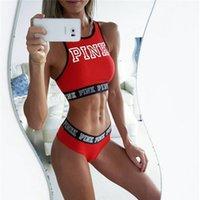 midriffs tops toptan satış-Kadınlar Nefes Darbeye Yastıklı Mektuplar Desen Midriff-baring Tankı Üstleri T-Shirt Dikişsiz Spor Mahsul Tops Yelek 2018 Y190123