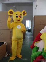 ingrosso piccoli topi-Mascotte gialla del topo di giallo del vestito dal costume di compleanno di Halloween del piccolo personaggio del costume del costume di newMascot Trasporto libero